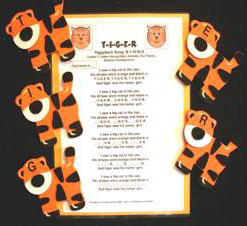 Tigers (5 wood props with letters)