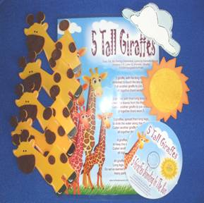 Giraffes (5 or 7 wood props)
